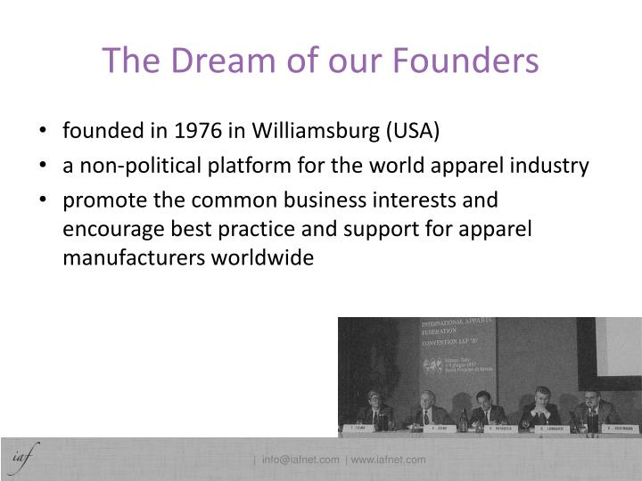 The dream of our founders