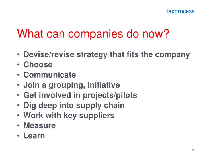 What can companies do now?