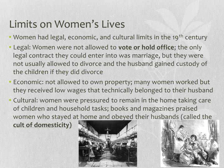 Limits on Women's Lives