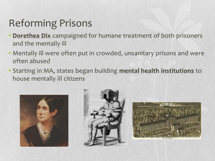 Reforming Prisons