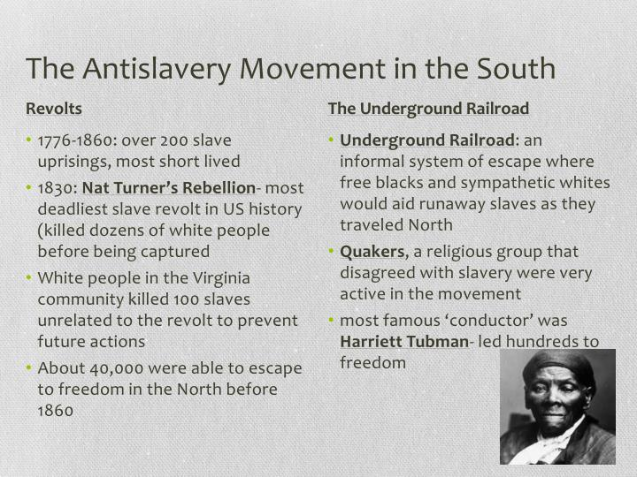 The Antislavery Movement in the South