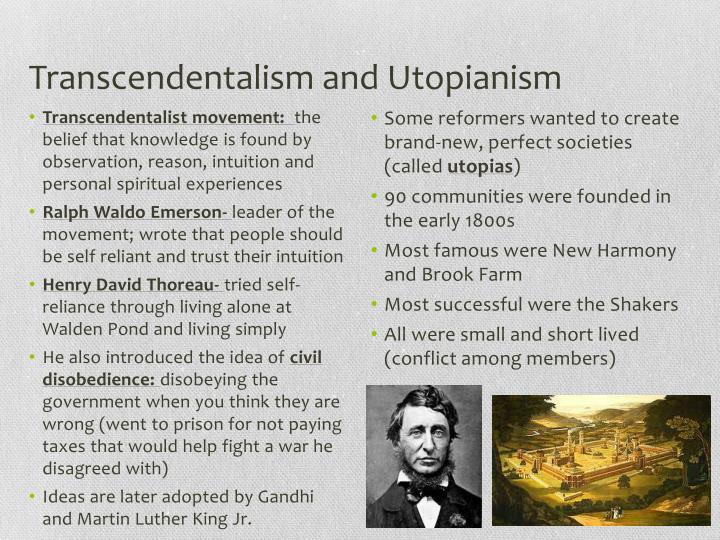 Transcendentalism and Utopianism