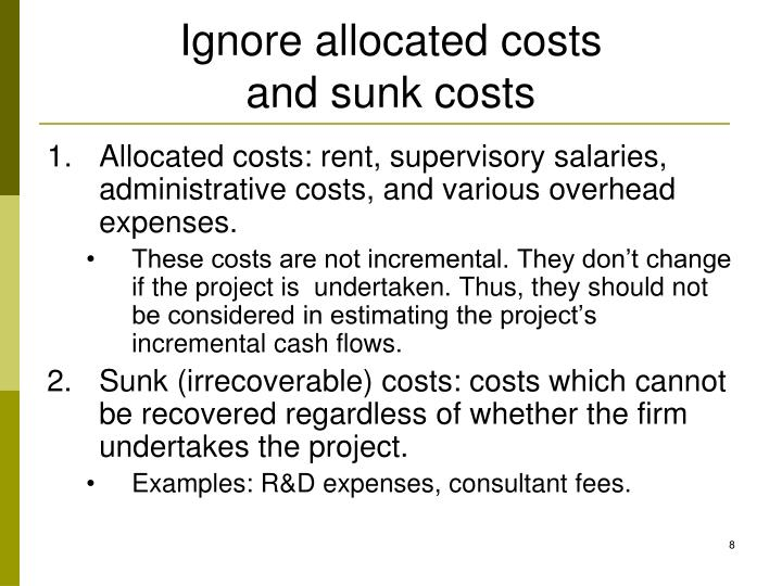 Ignore allocated costs