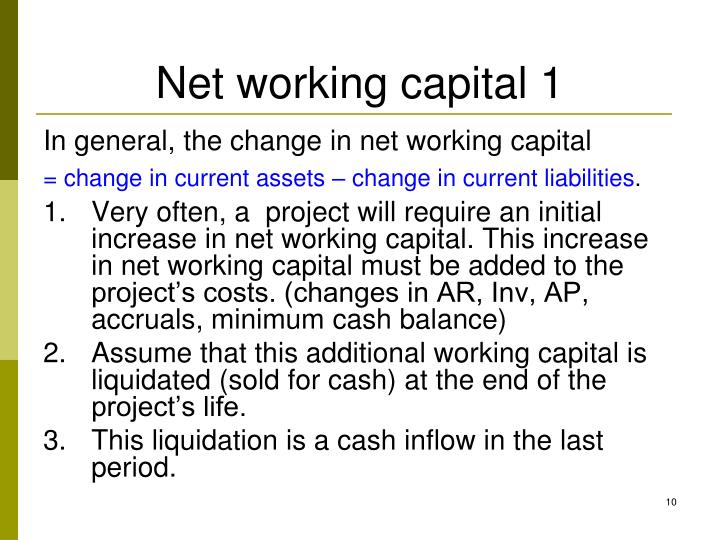 Net working capital 1