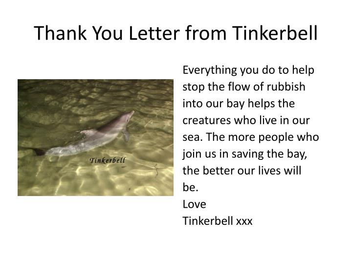 Thank you letter from tinkerbell1