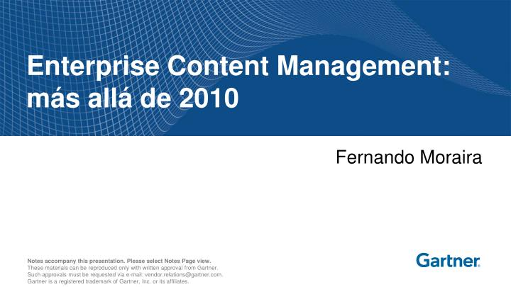 Enterprise content management m s all de 2010