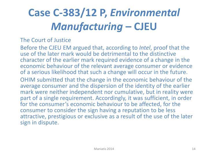 Case C‑383/12 P,