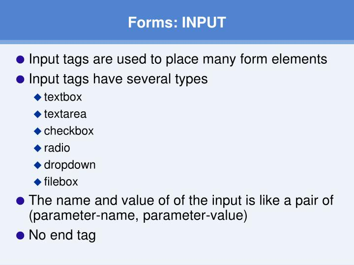 Forms: INPUT