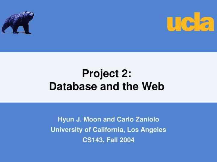 Project 2 database and the web