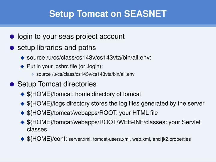 Setup Tomcat on SEASNET
