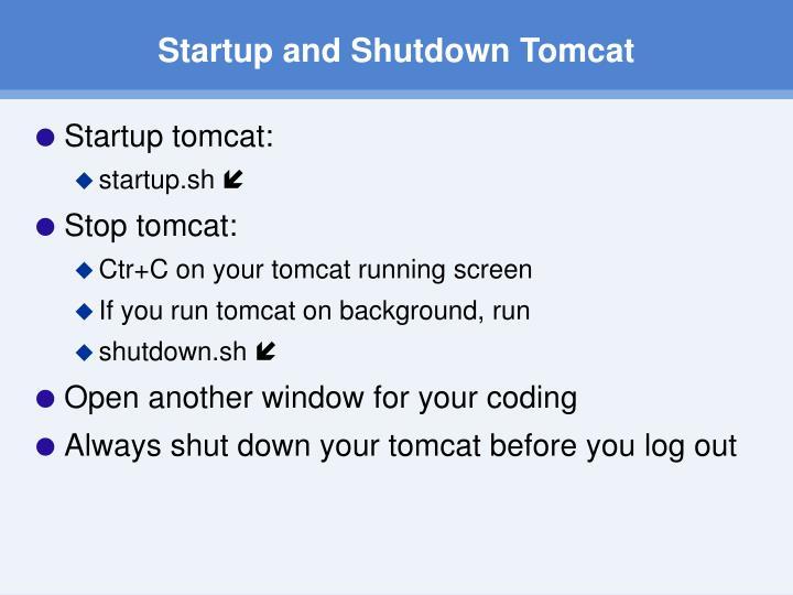 Startup and Shutdown Tomcat