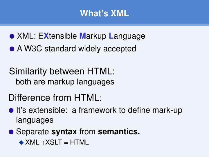 What's XML