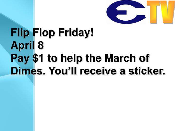 Flip Flop Friday!