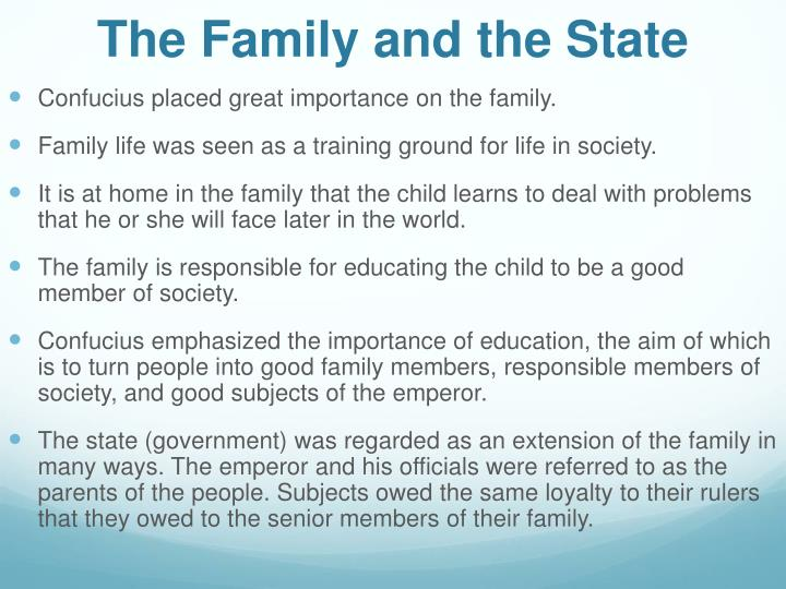 The Family and the State