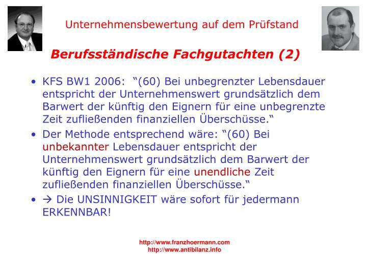 Berufsständische Fachgutachten (2)