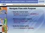 navigate flow with purpose