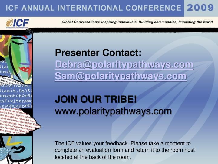 Presenter Contact: