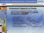 unleashed capacity to create