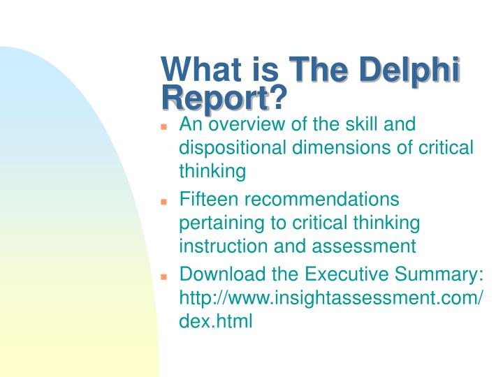 What is the delphi report