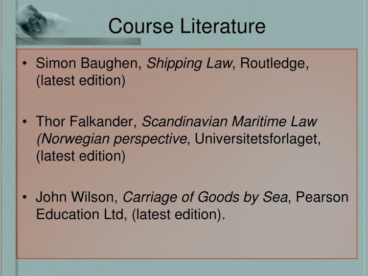 Course Literature