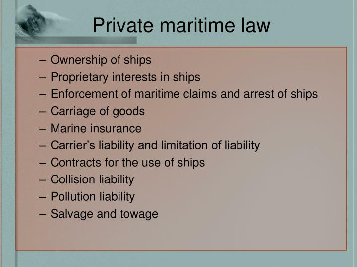 Private maritime law