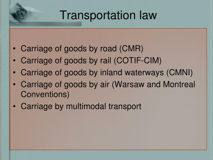 Transportation law