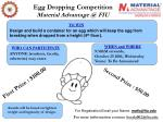 egg dropping competition material advantage @ fiu
