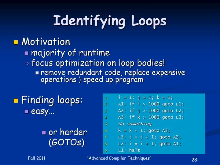 Identifying Loops