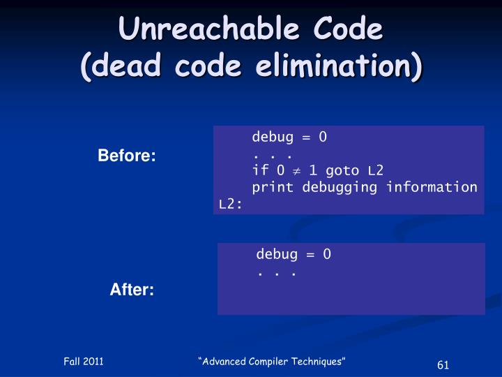 Unreachable Code