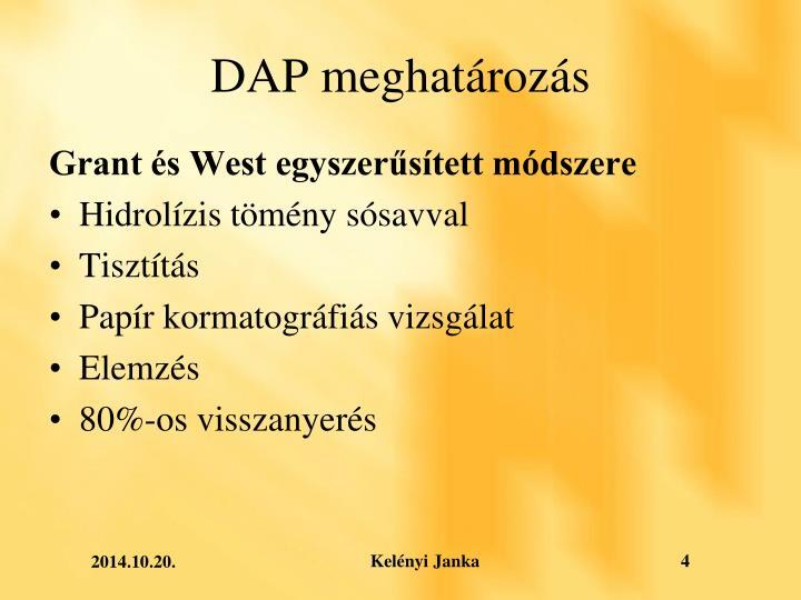 DAP meghatározás