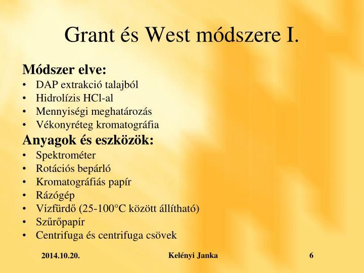 Grant és West módszere I.