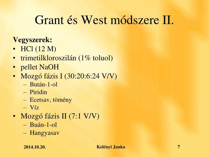 Grant és West módszere II.