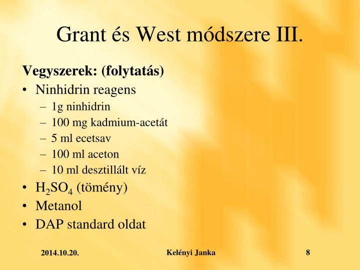 Grant és West módszere III.