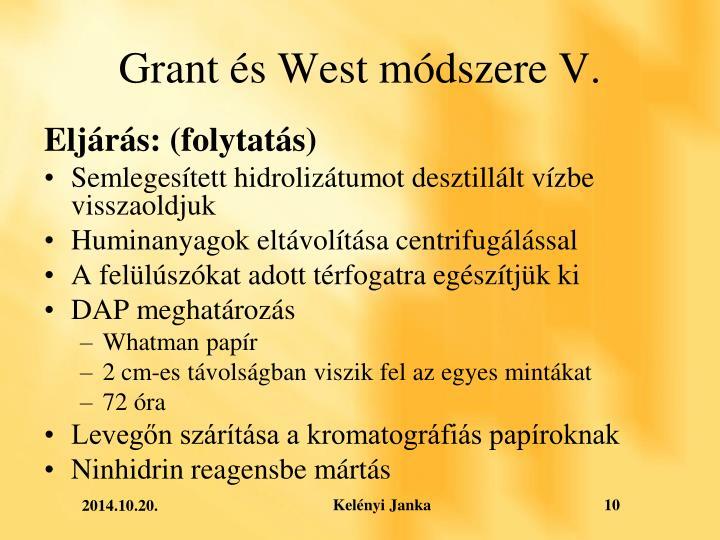 Grant és West módszere V.