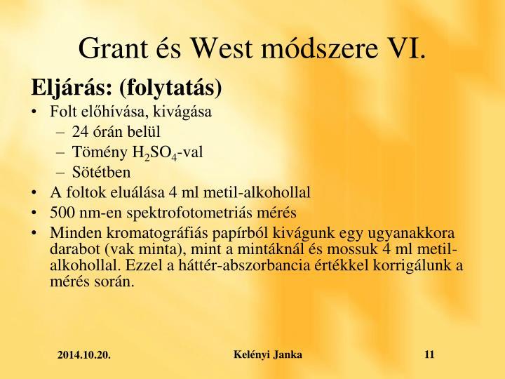 Grant és West módszere VI.