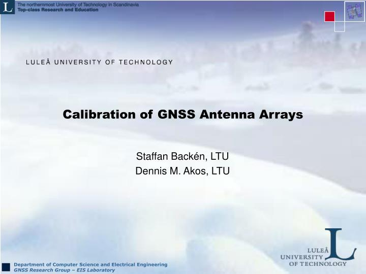 Calibration of gnss antenna arrays