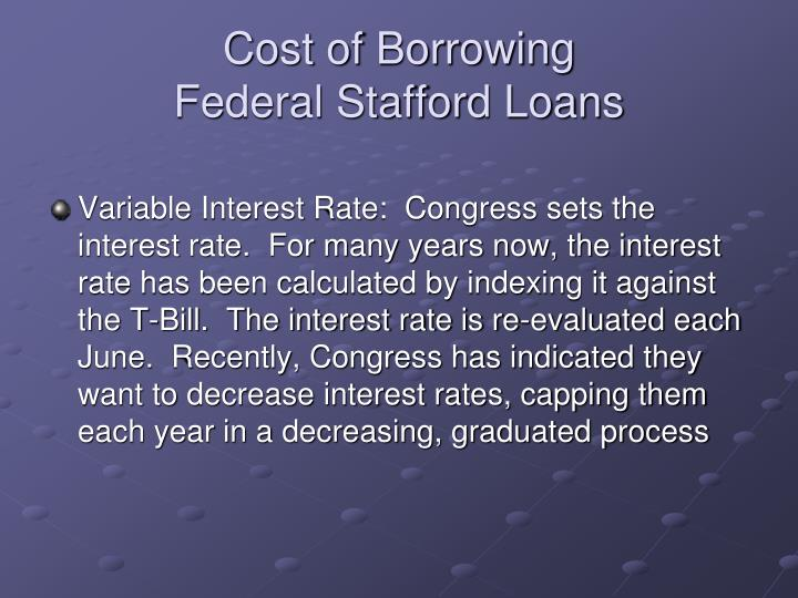 Cost of Borrowing
