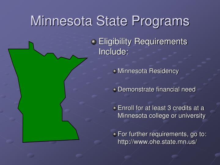 Minnesota State Programs