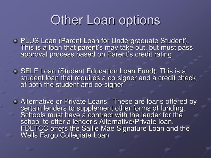 Other Loan options