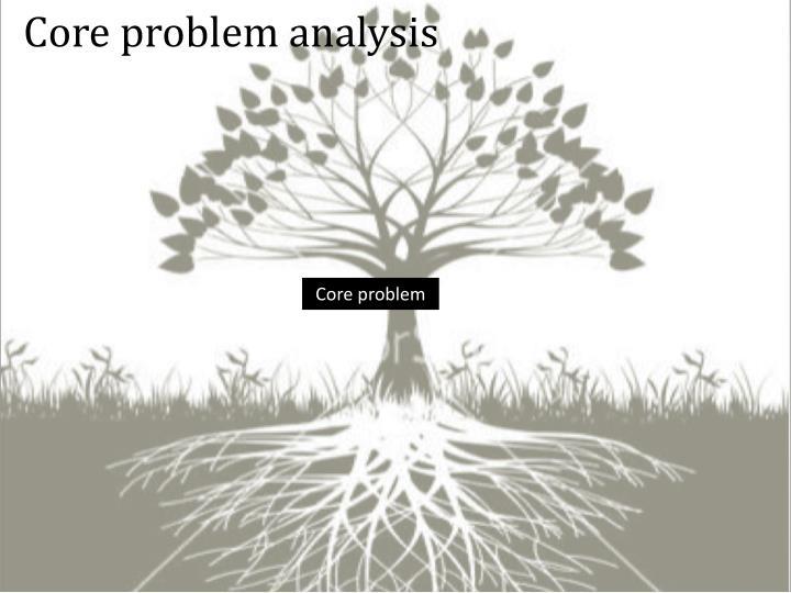 Core problem analysis