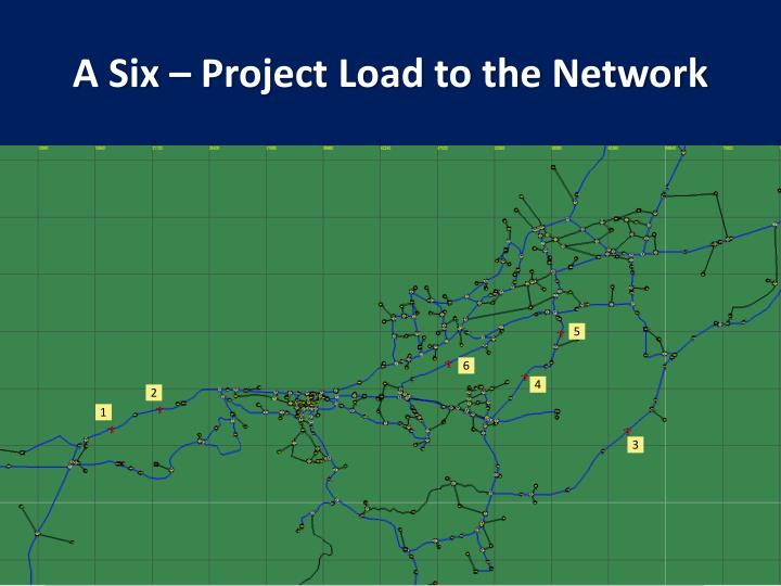 A Six – Project Load to the Network