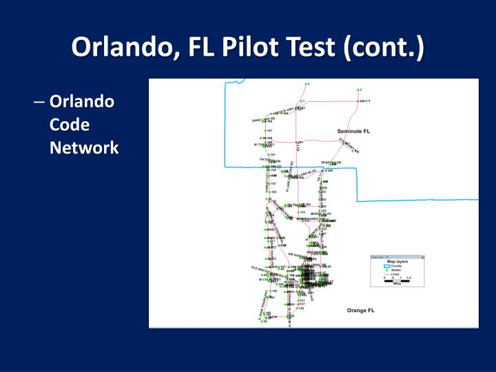Orlando, FL Pilot Test (cont.)