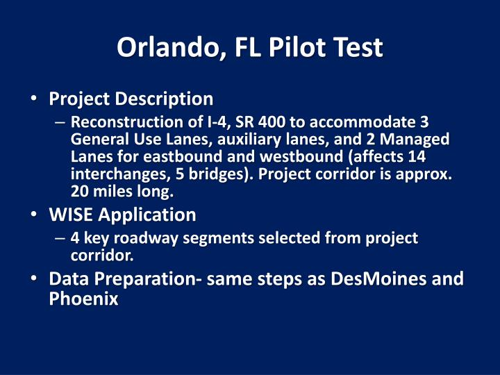 Orlando, FL Pilot