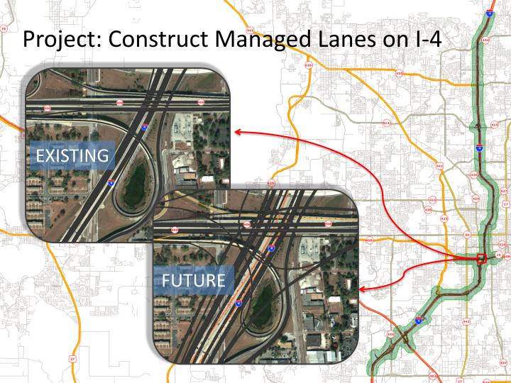 Project: Construct Managed Lanes on I-4