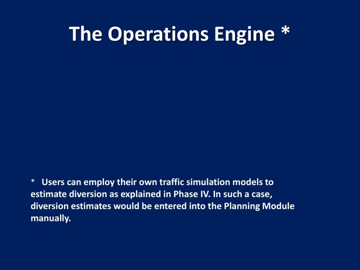 The Operations Engine *