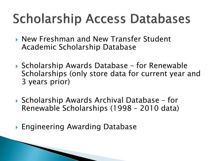 Scholarship Access Databases