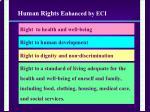 human rights e nhanced by eci