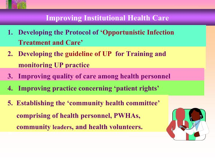 Improving Institutional Health Care