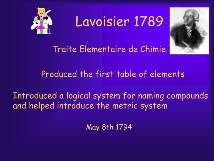 Lavoisier 1789