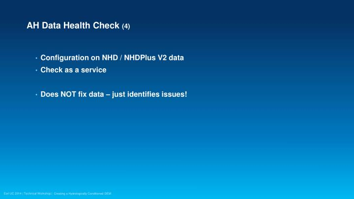 AH Data Health Check